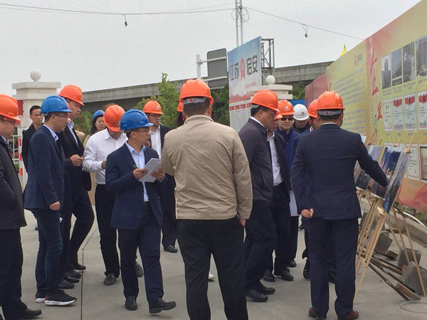 Wang Xiaobin, Secretary of the Municipal Party Committee, inspected the project of the colourful Green Plaza of the Group