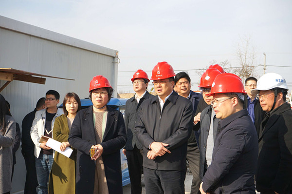 Wang Xiaobin, Secretary of the Municipal Party Committee, inspects the Hehe Primary School Project